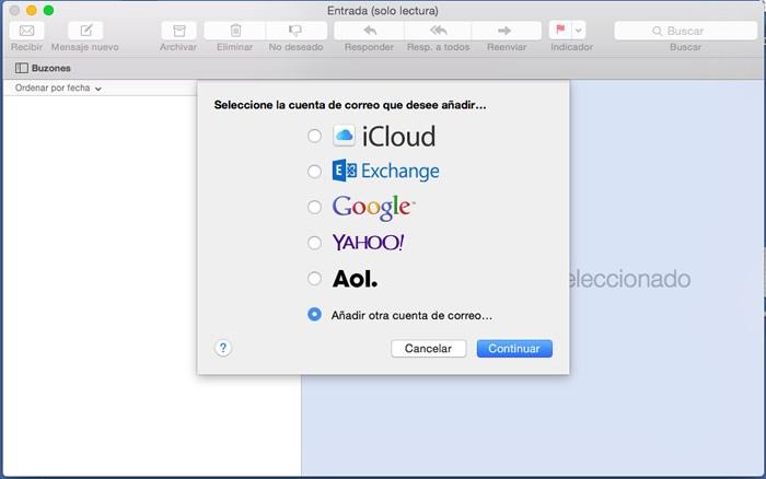 Configuración Correo Mail MacOSX con servidor de Torobytehosting