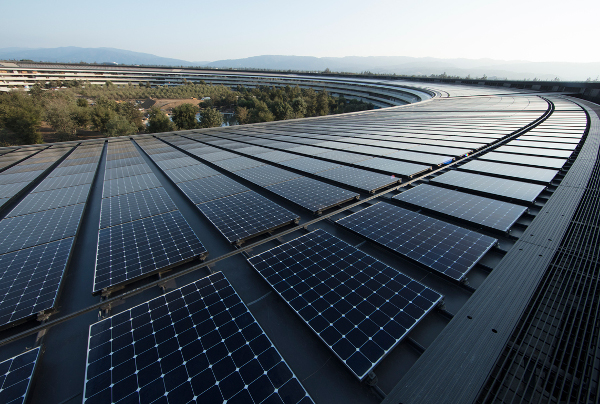 Apple anuncia que utiliza 100×100 energía renovable en todo el mundo